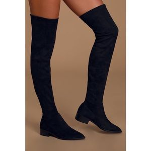 STEVE MADDEN OVER THE KNEE SUEDE BOOTS 5.5 NWOB